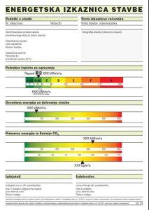 Prva stran računske energetske izkaznice, vir: PEI 2012